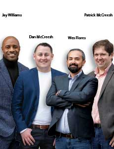 Jay Williams, Co-founder, Dan McCreesh, Co-founder, Wes Flores, Co-founder and Patrick McCreesh, Co-founder, Simatree