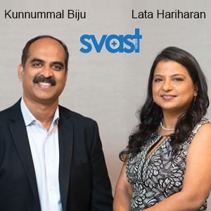 Kunnummal Biju, CEO & Lata Hariharan, President, Svast