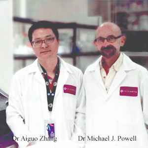 Dr Aiguo Zhang, Founder and CEO and Dr Michael J. Powell, CSO, DiaCarta