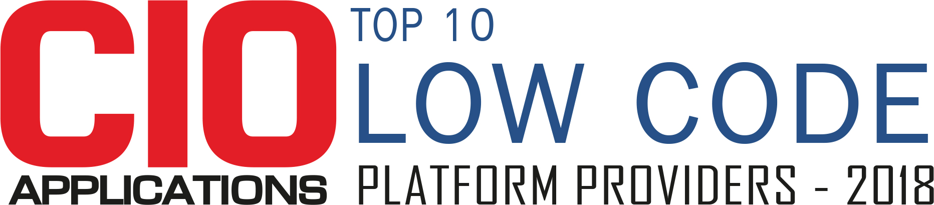 Top 10 Companies Providing Low Code Platform - 2018
